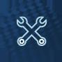 zwei Schraubenschlüssel gekreuzt